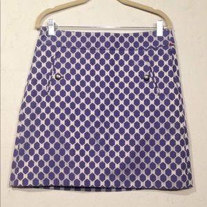 Loft | Mini Business Skirt 6 Diamond pattern